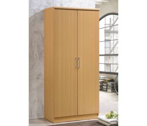 Hodedah Imports 2 Door Wardrobe with Shelves A6-9403 for Sale in St. Louis, MO