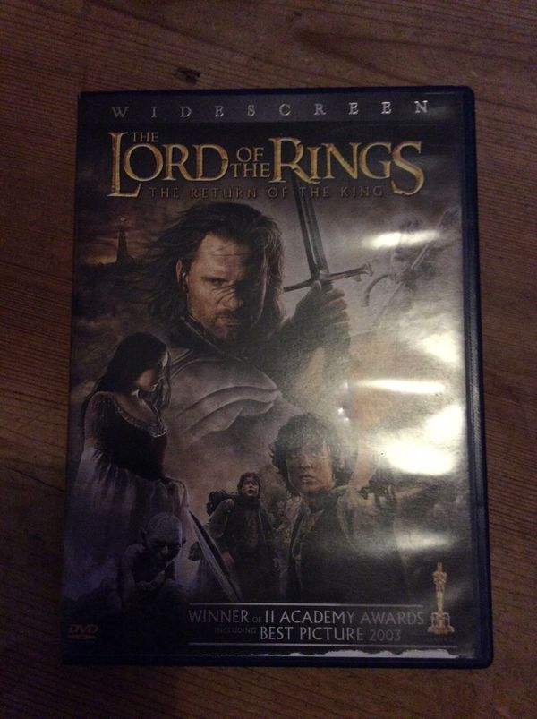 Lord of the rings return of the king wide screen!