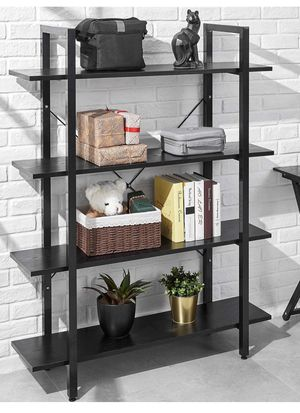 Bookshelf 4 Tier 41Wx12Dx55H inches Bookcase Solid 130lbs Load Capacity Industrial Bookshelf, Sturdy Bookshelves with Steel for Sale in Ontario, CA