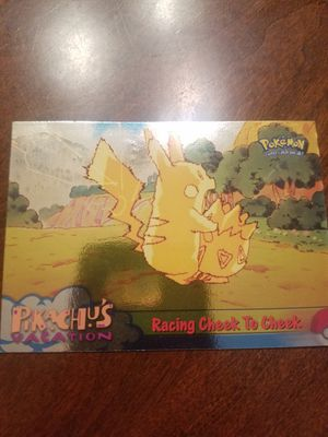 """1999 TOPPS POKEMON PIKACHU'S VACATION """"RACING CHEEK TO CHEEK"""" FOIL PARALLEL #48 for Sale in South Windsor, CT"""