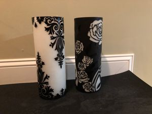 Set of Decorative Damask Candle or Flower Vase for Sale in Wakefield, MA