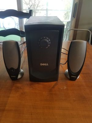 Dell Computer Speakers with Sub Woofer for Sale in Morgantown, WV