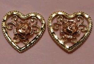 Women's 14k solid gold earrings/ Aretes de oro de 14k para mujer for Sale in Manassas Park, VA