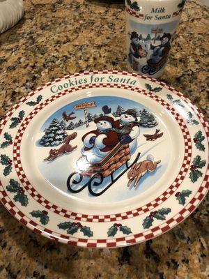 Longaberger Cookies & Milk For Santa Christmas Set for Sale in La Mirada, CA