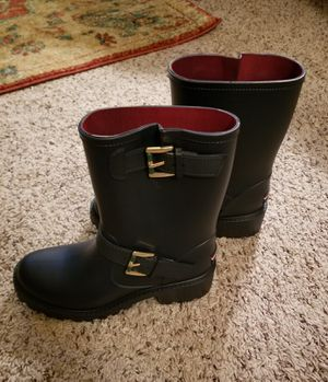 Brand New! Blue Rain Boots Women's Size 6 by Tommy Hilfiger for Sale in SeaTac, WA