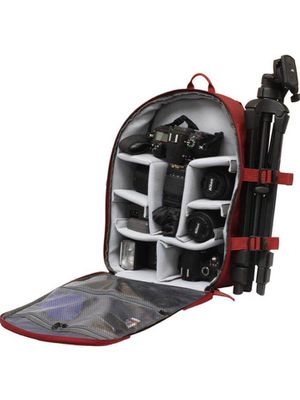 New in box Dark Red or Black Deluxe SLR Camera Cushion Backpack Tripod Holder 13x7x16 inches for Sale in Covina, CA