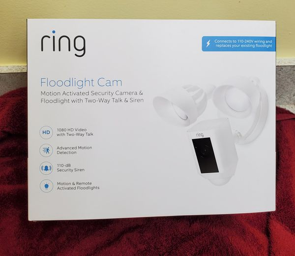 Ring Floodlight Camera in White