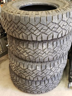 (4) Goodyear Wrangler Duratrac tires 265/70 r16 for Sale in Lakewood, CO