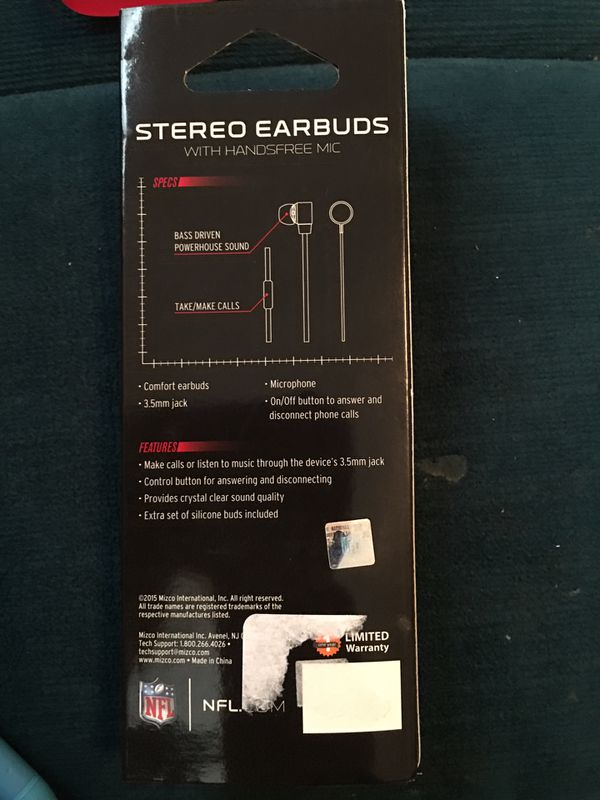 Green Bay Packers Stereo Earbuds