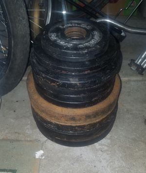 Barbell 2in Olympic weights for Sale in Orland Park, IL