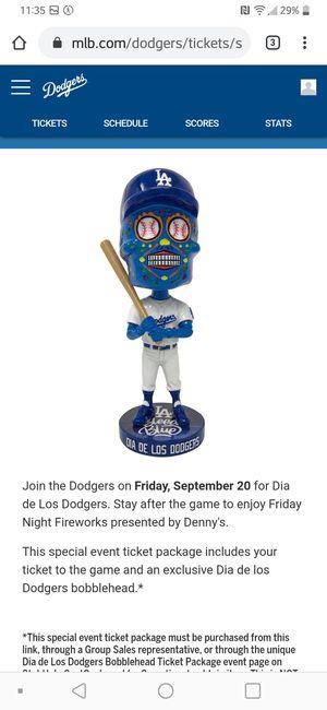 9/20 Dodgers Dia De Los Muertos Bobblehead Game SPECIAL TICKET for Sale in Fullerton, CA