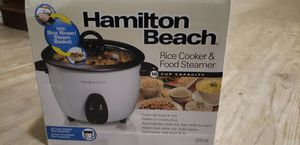 Hamilton Beach electric rice cooker and food steamer capacity 16cups for Sale in Glendale, AZ