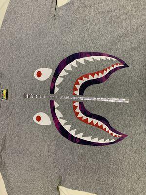 Bape shark tee gray/purple for Sale in Mentone, CA