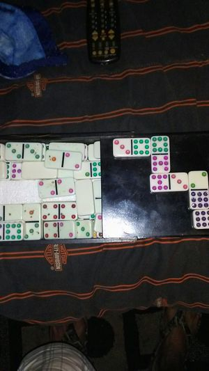 Domino game set double 6 color code. for Sale in High Point, NC