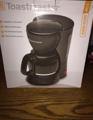 Toastmaster 5 cup coffee maker for Sale in Columbia, PA