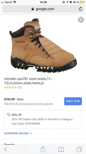 Work boots size 8 for Sale in Milwaukee, WI