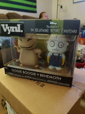 The nightmare before Christmas vinyl oogie boogie and behemoth for Sale in Seattle, WA