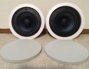 "Polk Audio RC60i 2-way In-Ceiling 6.5"" Round Speakers, Set of 2 for Sale in Lynnwood, WA"