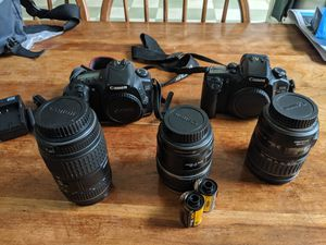 Canon 20D, Elan 7e, 17-85mm, 28-135mm, Sigma 70-300mm for Sale in New York, NY