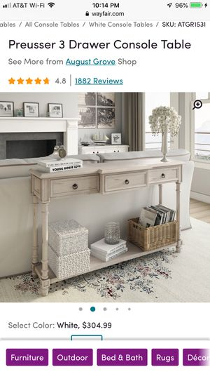 Preusser 3 Drawer Console/Entryway Table by August Grove for Sale in Freehold, NJ