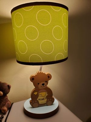 Baby bear theme nursery lamp and wall decor for Sale in South Holland, IL