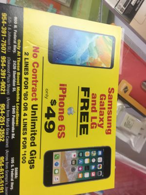 Free android phones and an iPhone 6s for 49.99 for Sale in Dania Beach, FL