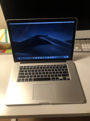 MacBook Pro 15 inch 2015 2.8ghz i7(high processor) 16GB 500GB SSD ADM Radeon R9 M370X 2GB dual graphic card model for Sale in Upland, CA
