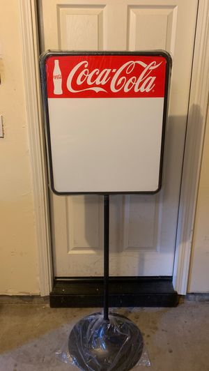 Coca Cola dry erase menu board for Sale in San Jose, CA