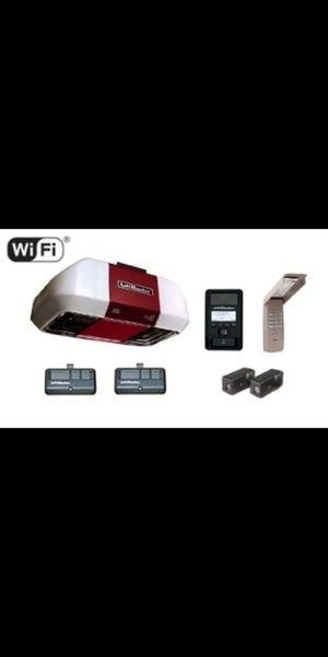 Liftmaster WiFi Quiet Belt Garage Door Opener with solid rail INSTALLED for Sale in Summit, NJ