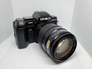 Vintage 1980s Minolta Maxxum 7000 35mm SLR Film Camera w/ lens for Sale in Newport Beach, CA