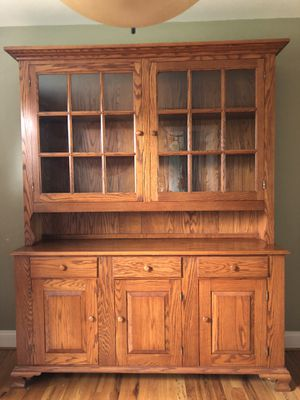 Solid Oak China Cabinet and Buffet for Sale in Rockville, MD