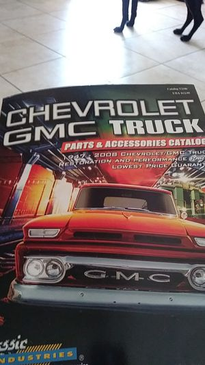 Chevy gmc truck parts book for Sale in Adelanto, CA