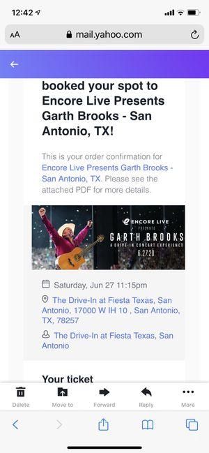 Garth Brooks Fiesta Texas for Sale in San Antonio, TX