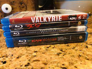 Lot of Blu-ray DVD's Bladerunner American Werewolf 300 Valkyrie for Sale in Etiwanda, CA