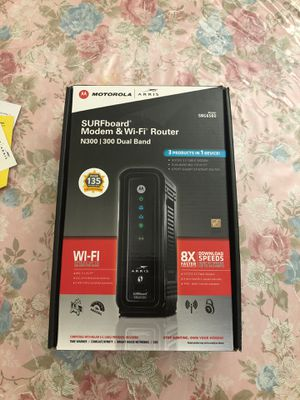 Motorola Model+router arris sbg6580 for Sale in Orlando, FL