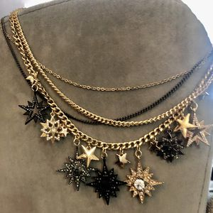 Gold and Black Multi Chain Necklace for Sale in Las Vegas, NV