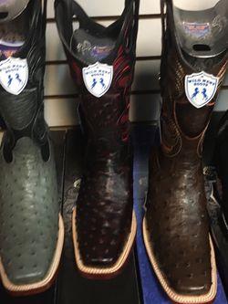 Botas Vaqueras De Piel Original De Avestruz Marca Wild West Boots for Sale in Anaheim,  CA