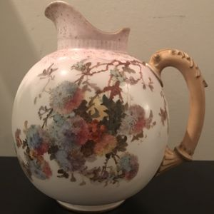 1890's Burlsem English Bone China RN 139596 Floral Pitcher - Pre ROYAL DOULTON - Very sought After!! for Sale in Pittsburgh, PA