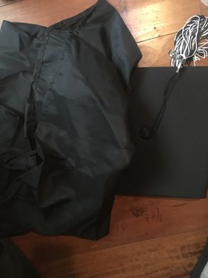 Graduation cap and gown - one size fit all for Sale in San Leandro, CA