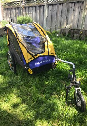 Burley solo bike trailer for Sale in San Jose, CA