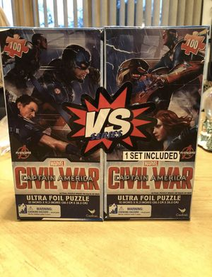 Captain America Civil War Ultra Foil Puzzle 2 Sets - 100 pieces each Marvel New for Sale in Struthers, OH