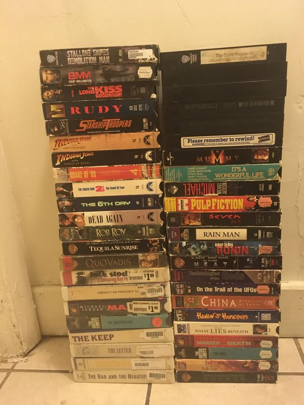 Classic VHS/VCR movie tapes