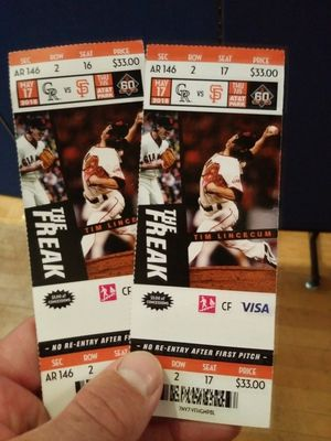 Two 33$ row 2 tickets to tonights game.. for Sale in US