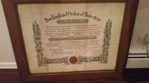 Rare mason lodge plaque 1897 supreme order of protection knights of Templar new england for Sale in Elmont, NY
