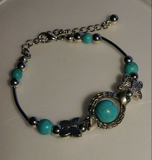 Silver Plated Turquoise Bracelet for Sale in Pico Rivera, CA