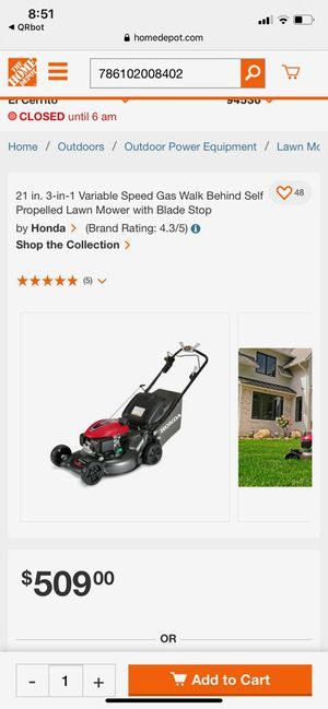 Honda self propelled lawn mower for Sale in Richmond, CA