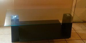 Glass Top COFFEE TABLE with Black Wood Base for Sale in San Angelo, TX