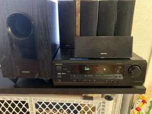 Onkyo HT-R340 Receiver and 5.1 surround sound speakers for Sale in Red Oak, TX