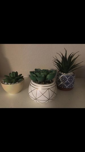 3 small MCM artificial succulents for Sale in Scottsdale, AZ