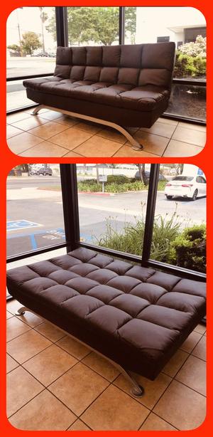 "🔥👍🔥Black or Dark Brown PU Futon Sofa Bed - 72.5"" x 36"" x 36.25""🔥👍🔥 for Sale in Chino, CA"
